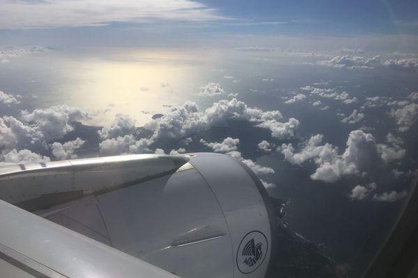 Réacteur d'un avion en vol
