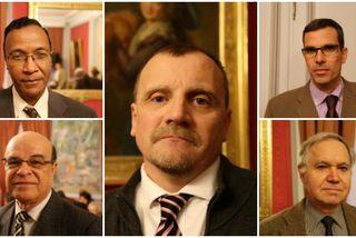 Prosper Eve, Wilfried Bertile, Philippe Vitale, Gilles Gauvin et Michel Vernerey