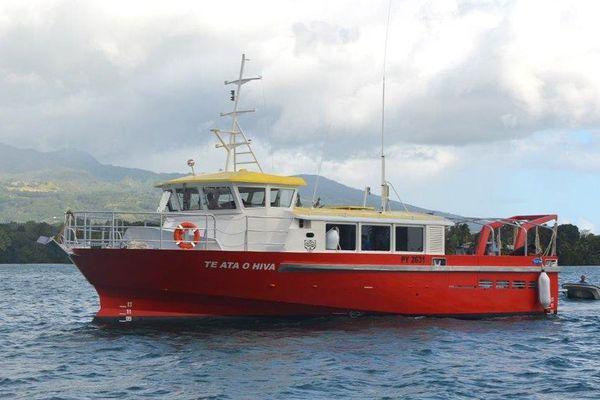 Premiers essais en mer de la navette destinée aux Marquises du sud