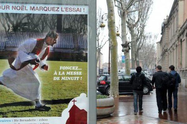 Campagne publicitaire pour la messe de Noël, à Narbonne - décembre 2010
