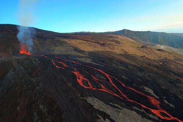 Le volcan vu du ciel : 3 avril 2020