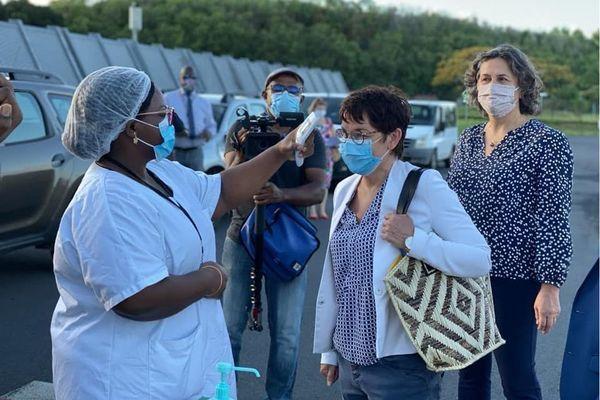 Annick Girardin est arrivée à Mayotte.