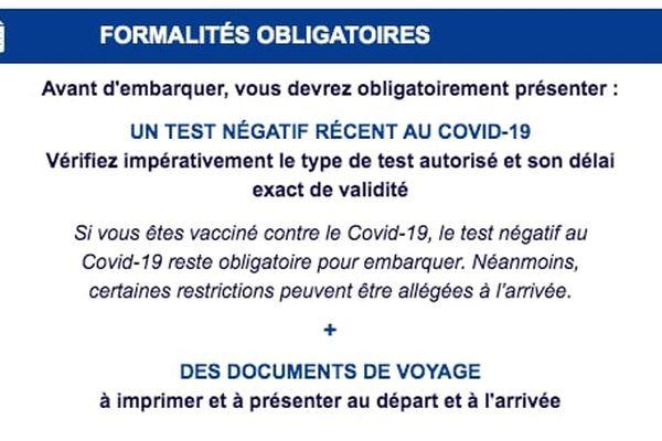 Air France, les tests ne sont pas obligatoires pour les personnes vaccinées