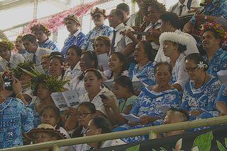 L'Evangile célébrée par les chants et le sport