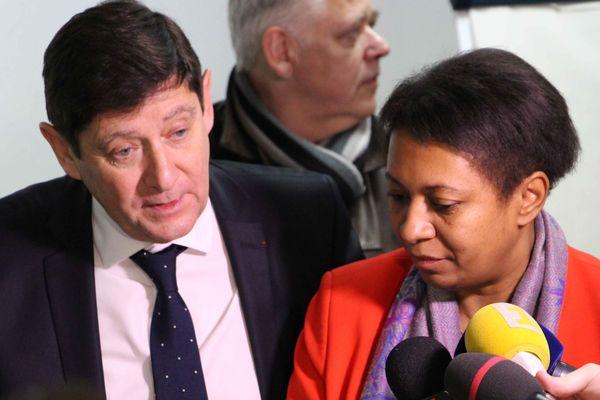 Patrick Kanner et Hélène Geoffroy