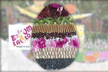Le plus bel oeuf de Pâques 2020 dessiné par Kalie et récompensé par l'association Boum Kaliko