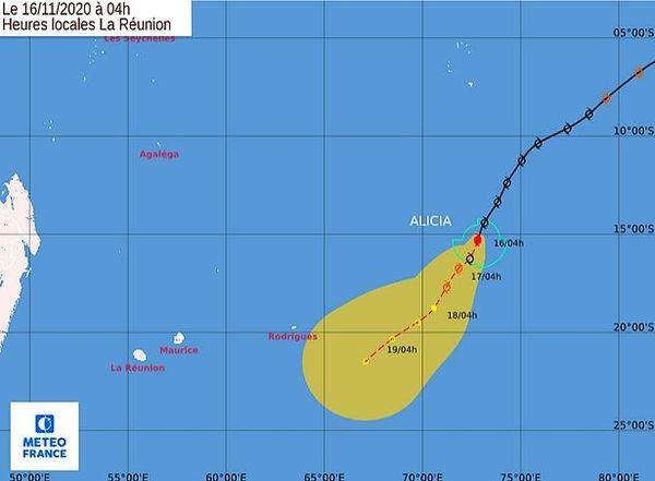 Alicia tempête tropical 16 nov 2020