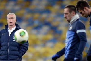 Deschamps Ribery foot France Ukraine