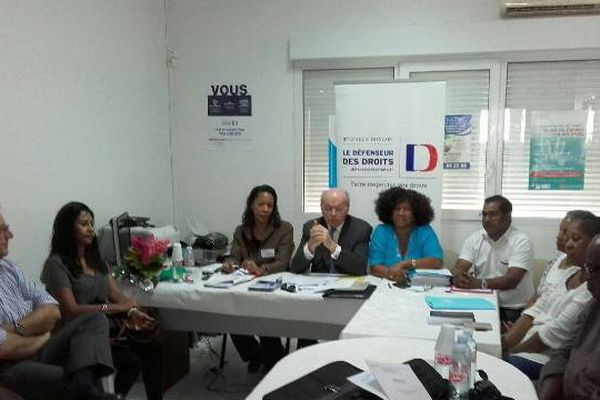 Jacques Toubon, défenseur des droits, en Guadeloupe