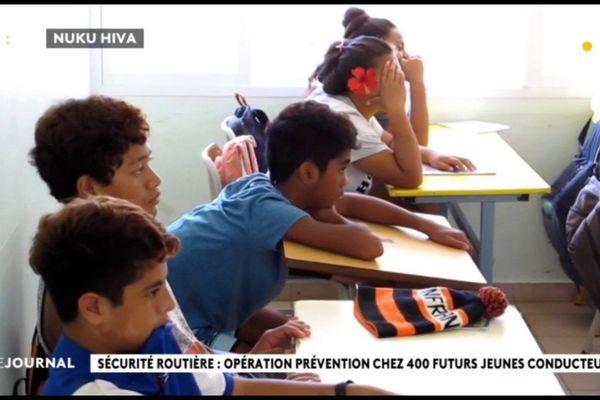 Opération de prévention routière à Nuku Hiva