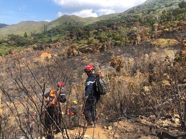 Feu du Mont-Dore, pompiers du DIH, 3 décembre 2019