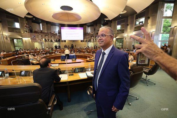 Cyrille Melchior, président du conseil départemental de La Réunion.