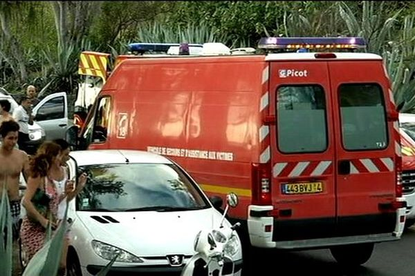 Attaque requin : ambulance des pompiers