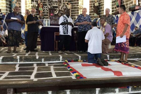 Répétition générale ordination Mgr Sionepoe