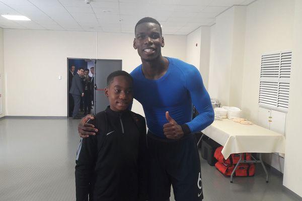 Yannel avec Paul Pogba