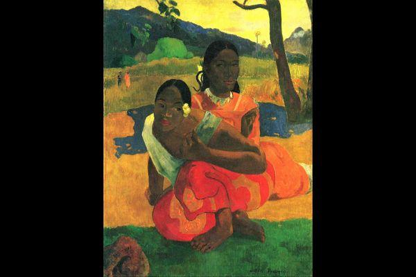 """Nafea faa ipoipo ?"", ""Quand te marie-tu ?"", tableau de Paul Gauguin (1892 Hiva Oa)"