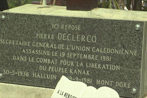 Pierre tombale de Pierre Declercq