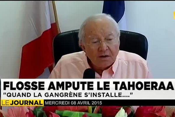 """Gaston Flosse : """"Quand la gangrène s'installe, il faut amputer """""""