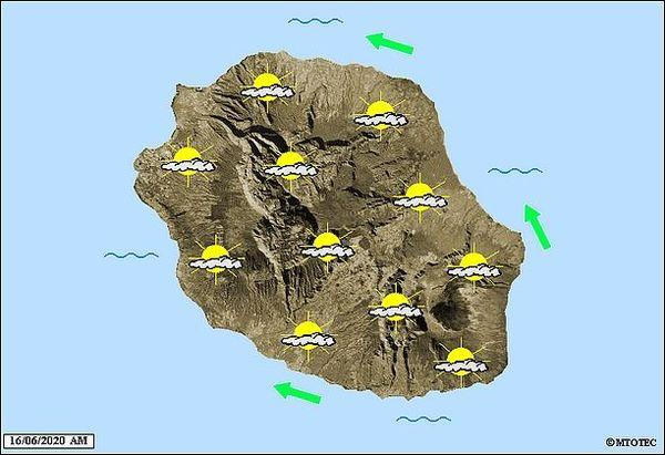 Carte météo 16 juin 2020