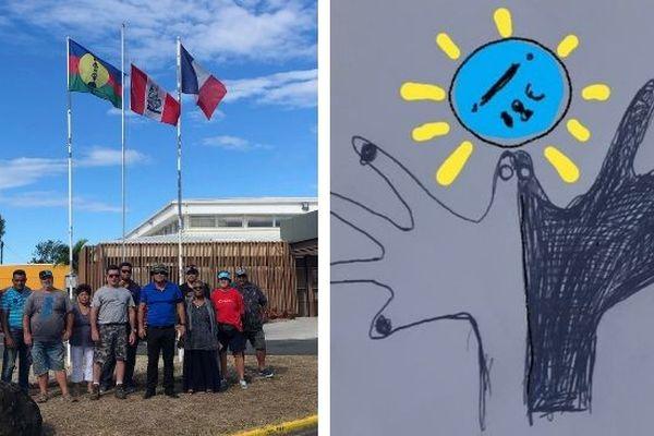 CNR: levé d'un drapeau commun à Païta