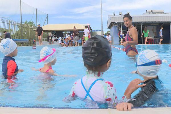 natation enfants rivière salée