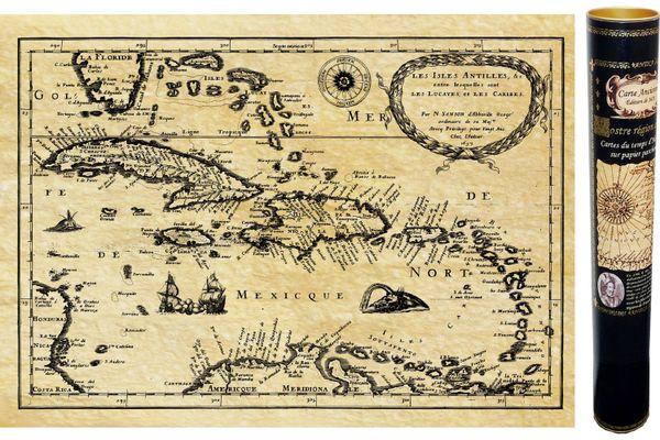 Carte historique de la Caraïbe