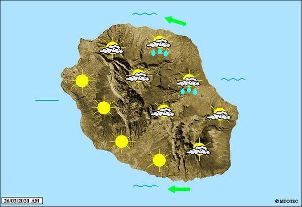 Carte météo 26 mars 2020
