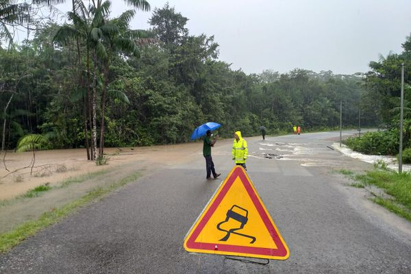 Inondation à Montsinéry-Tonnégrande
