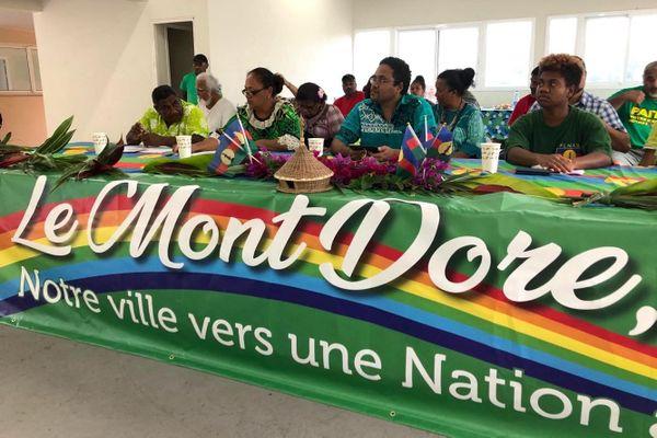 Municipales au Mont-Dore : liste indépendantiste, Romuald Pidjot, 11 février 2020