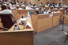 Les élus de l'Assemblée de la CTM (9 juillet 2021).