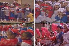 Les enfants de Saint-Pierre et Miquelon et de La Foa en Nouvelle-Calédonie lors du 14 juillet 1989