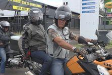 Des déficients visuels ont pu goûter aux sensations d'une virée à moto, le temps d'une journée.
