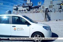 Poursuite de la vaccination dans les îles éloignées