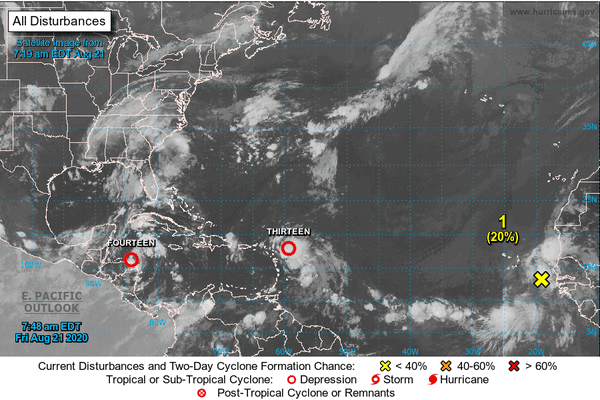 Nouvelle onde tropicale aux portes de l'Afrique - 21.08.2020