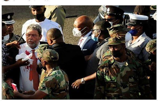 Saint-Vincent et les Grenadines Ralph Gonsalves blessé