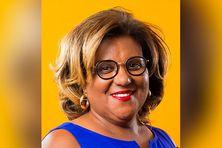 Catherine Conconne, tête de la liste La Martinique Ensemble.