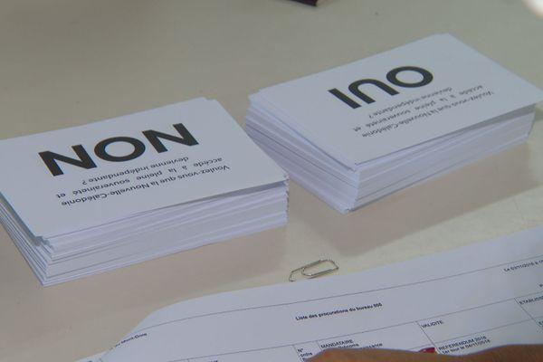 Référendum. Bulletins Oui et Non