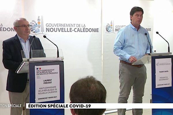 Covid-19 : déclaration conjointe du Haut-commissaire Laurent Prévot et du président du gouvernement Thierry Santa