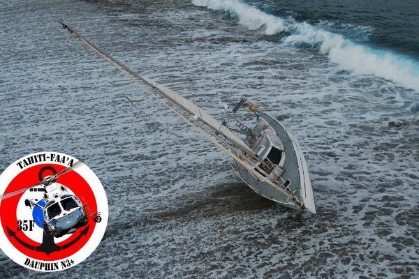 Tahaa : un homme de 70 ans hélitreuillé après l'échouage de son voilier