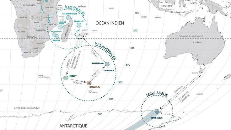 iles australes carte du monde