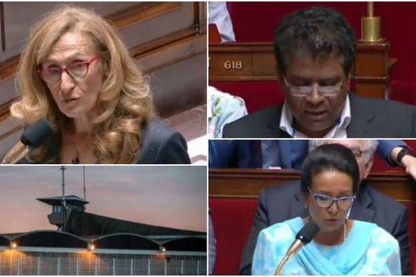 Nicole Belloubet, Jean-Hugues Ratenon et Huguette Bello