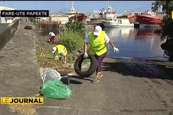 Opération de nettoyage à  Fare Ute