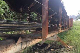 La serpentine de Kouaoua de nouveau incendiée, 15 avril 2018