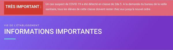 gauguin lycée / site / covid