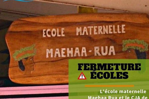 Ecole maehaarua et le cja fermés