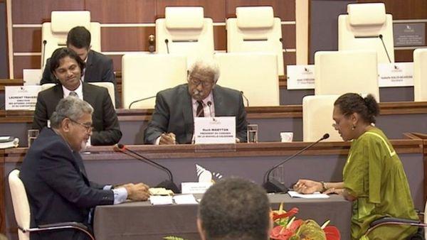 Vote du gouvernement au Congrès 13 juin, Roch Wamytan préside