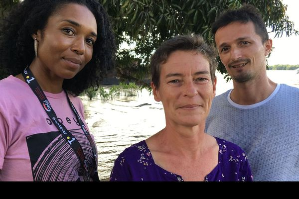 Véronique Chainon, productrice, Laure Martin et Vianney Sotès, les réalisateurs