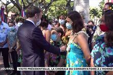 La chorale du Conservatoire sans fausse note devant Emmanuel Macron