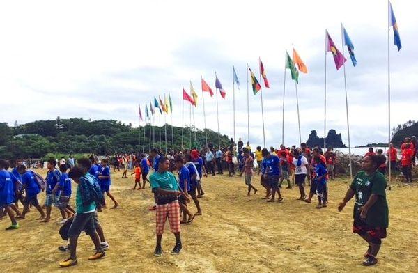 Coupe Tjibaou 2019, drapeaux, premier jour