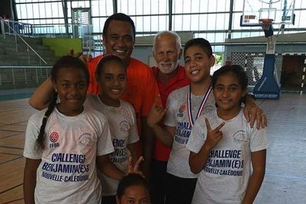 Wallis au challenge benjamin de basket en Nouvelle Calédonie
